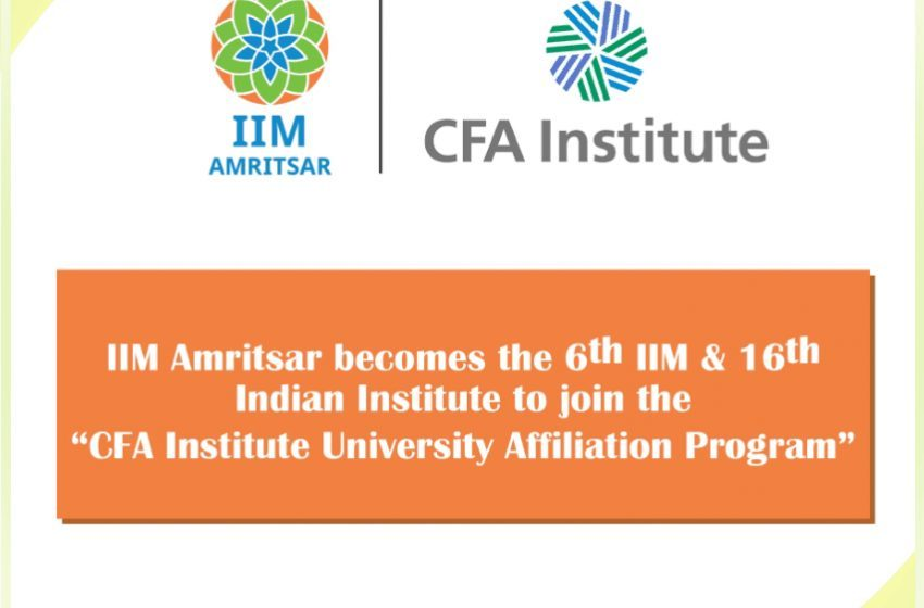 IIM Amritsar Becomes 6th IIM to join the CFA Institute University Affiliati…2 min read