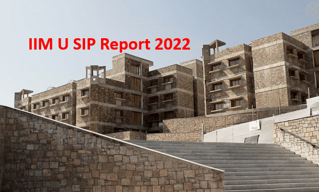 102 recruiters came to IIMU for SIP for the batch 2022
