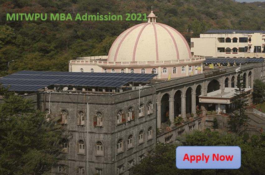 MIT World Peace University Invites Applications For MBA Program for the batch 2021