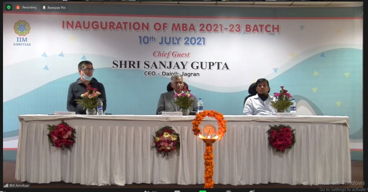 IIM Amritsar inaugurated the seventh batch of MBA program and the first batches of MBA Human Resources and MBA Analytics