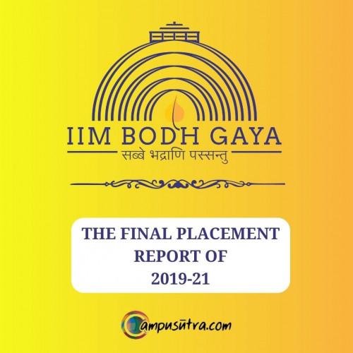 IIM Bodhgaya MBA Placement Report 2021