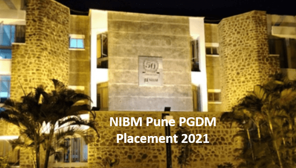 NIBM Pune PGDM Placement Report 2021. 100% Students placed